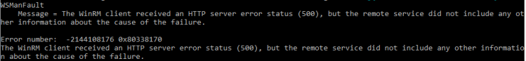 WinRM Error