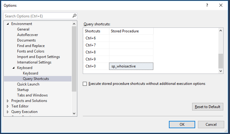 Query shortcuts in SQL Server Management Studio   DBA From The Cold