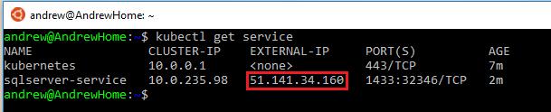 Running SQL Server in Kubernetes on Azure Kubernetes